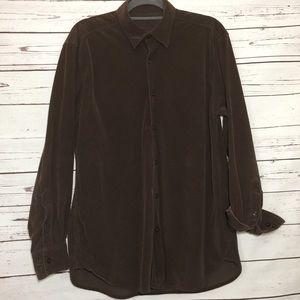 Tommy Bahama Espresso Brown Silk/Cotton Shirt